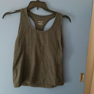 Work out tank with built-in bra